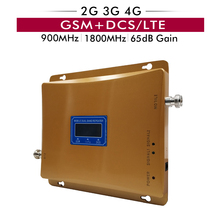 65dB Gain Dual Band Booster 2G GSM 900 3G 4G DCS/LTE 1800 Cellular Cell Phone Signal Repeater Amplifier with LCD Display