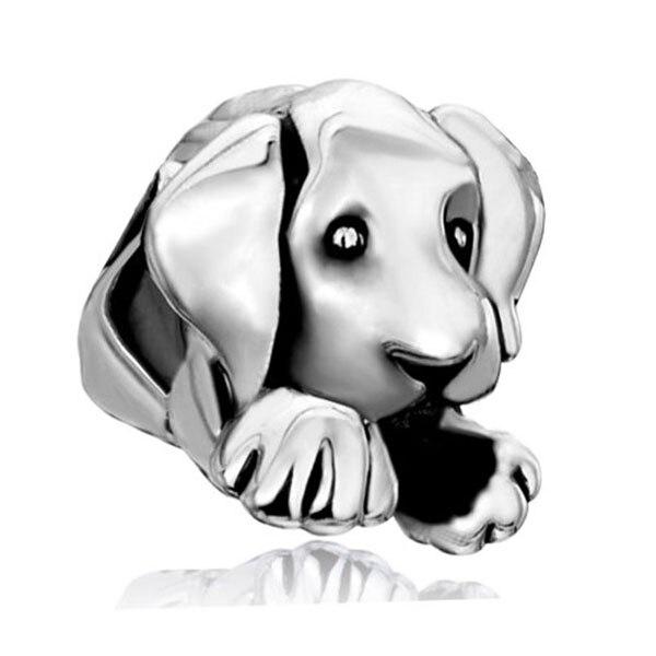 Free shipping 1PC European Stylle Large Hole Beads Sleepy Cute Puppy Dog Charms Fits Pandora Charm Bracelets & Necklace