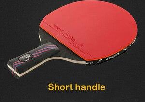 Image 4 - מקצועי טניס שולחן בת Trianing שולחן טניס להב מחבטי ארוך קצר ידית פינג פונג משוט מחבט עם לשאת תיק