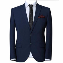 new style men suits Slim fit groom suits custom made men wedding suits blue lapel single breasted formal suits(jacket+pants)