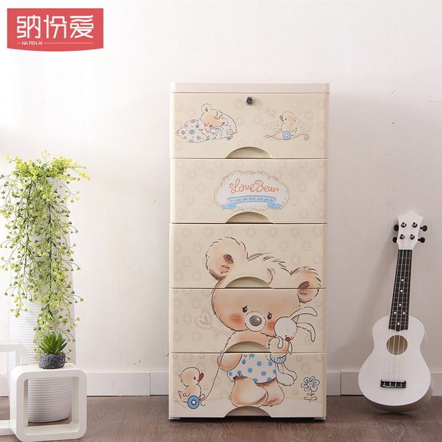 Multifunction plastic cabinet kids room Easy to move with wheel storage box for toy storage plastic cabinet clothes boxes bins