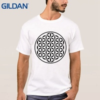 Tshirt Black Men Sacred Geometry Unique Hop Short Sleeves Online Cloth Size No Buckle Tee Shirt