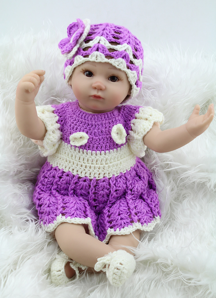 ФОТО Realistic Newborn Baby Doll Fashion 17 Inch Soft Silicone Reborn Baby Dolls For Girls And Boys Birthday