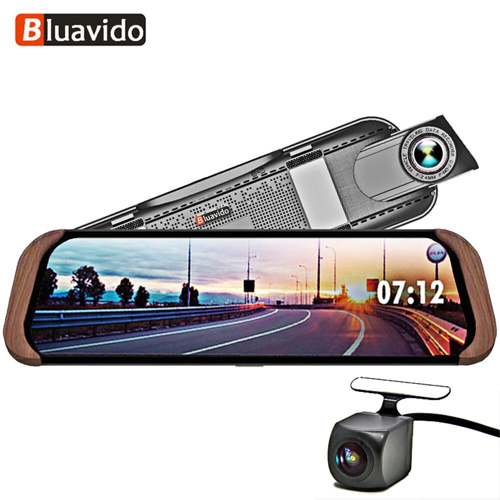 Bluavido 10 4G Android De Voiture miroir Enregistreur vidéo GPS Navigation FHD 1080 P Dash Caméra ADAS avec 720 P arrière cam WiFi moniteur DVR