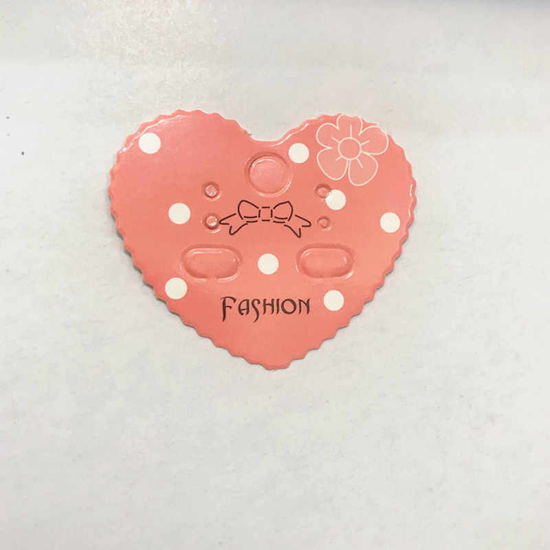 20Pcs 4.3x5cm Love Kraft Paper Earring Cards Hang Tag Jewelry Display Ear Stud Card Favor Label Tag Displays Bag pink Color 2019