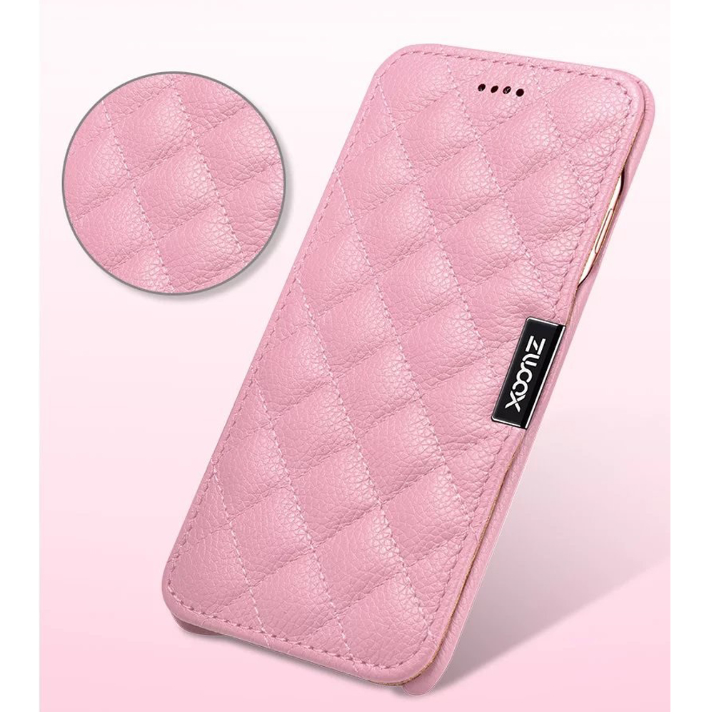 XSB1-XOOMZ TOP Genuine Leather Case for  7 Plus iPhone 8 Plus Grid Check Magnetic Folio Case for iPhone 7Plus Women GirlsXSB1-XOOMZ TOP Genuine Leather Case for  7 Plus iPhone 8 Plus Grid Check Magnetic Folio Case for iPhone 7Plus Women Girls