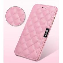XSB1-XOOMZ топ из натуральной кожи чехол для 7 Plus iPhone 8 Plus проверочная сетка Магнитная Фолио чехол для iPhone 7 плюс для женщин девочек