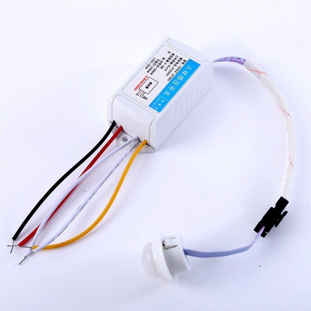 220 v LED PIR Détecteur Infrarouge, Détecteur de Mouvement avec Temporisation Réglable SUR/OFF