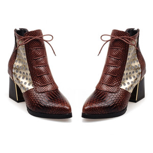 Image 4 - FEDONAS New Fashion Mixed Colors Pu Leather Women Ankle Boots Party Shoes Woman Animal Prints Female Short Boots Big Size Shoes