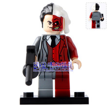 DR TONG Single Sale PG188 DC Super Heroes Two Face Building Blocks Bricks Action Diy Toys