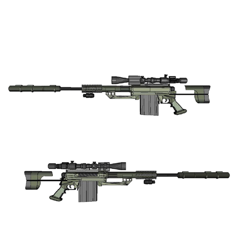 DIY 1:1Cheytac M200 Intervention Sniper Rifle Paper Model Assemble Hand Work 3D Puzzle Game Kids Toy