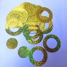 Circle Laser Crafts Sequins Wedding-Decoration Hologram Round Flat Gold Large 50mm PVC