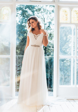 Plus Size Wedding Dress 2019 V Neck Lace Chiffon Beach Bridal Short Sleeves Cheap High quality Gowns