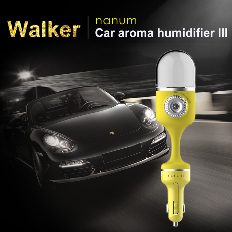 Car Humidifier Air Purifier Aroma Essential Oil Diffuser Sprayer 12V Auto Car Fragrance Spray Ultrasonic Car Air Freshener aloha ff062 refreshing fragrance honey peach scent air freshener for car auto deep pink