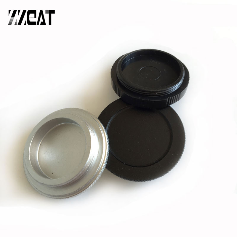 CS Mount Lens Cap Surveillance Lens Cover 25.4mm Thread C Mount Industrial Camera Dust Cover For CCD Electronic Eyepiece Camera