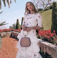 CCCC 2019 летнее женское цветочное Макси платье с кружевной вышивкой с коротким рукавом Длинные платья элегантные белые вечерние винтажные пля