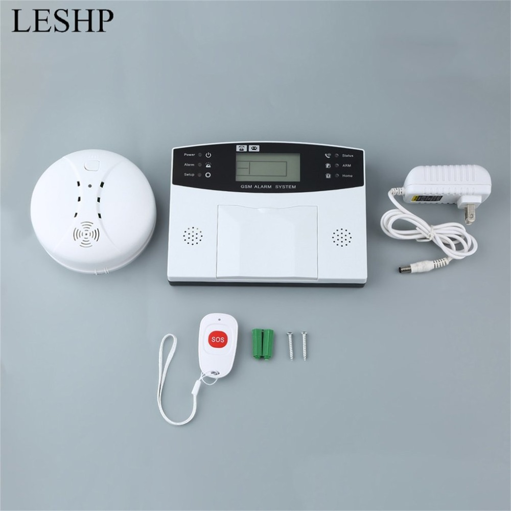 Detector Sensor Kit GSM LCD Wireless 433 Smart Burglar Security Alarm System Remote Control Auto Dial SMS Outdoor Siren 105dB 433mhz dual network gsm pstn sms house burglar security alarm system fire smoke detector door window sensor kit remote control