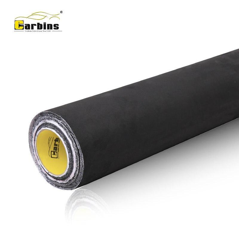 Carbins большая куча ткани черный самоклеющийся замши фабричная ткань для автомобиля внутренняя упаковка кровельное покрытие приборной панел