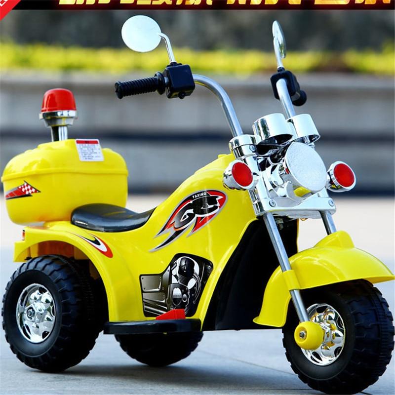 Enfants tout-terrain moto bébé moto électrique garçon fille âgée de 3-6 ans LargeTricycle moto cadeau monter sur les voitures en plein air jouet