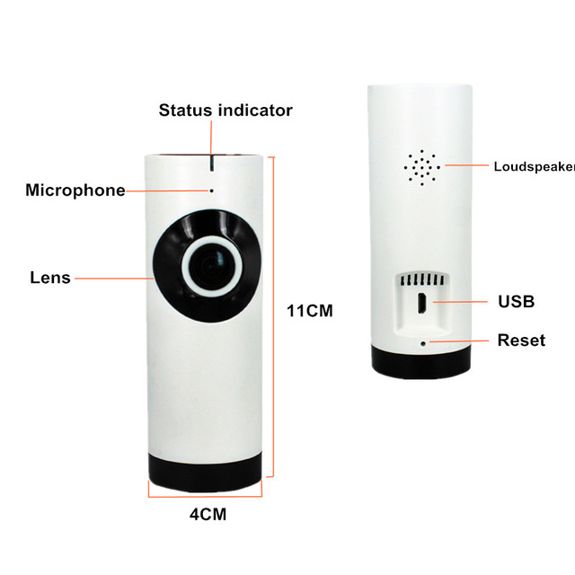 ZILNK IP Camera 180 Degree Panoramic Fisheye Lens HD 720P Wi-Fi Two Way Audio Baby Monitor Indoor Home Security CCTV IP Cam