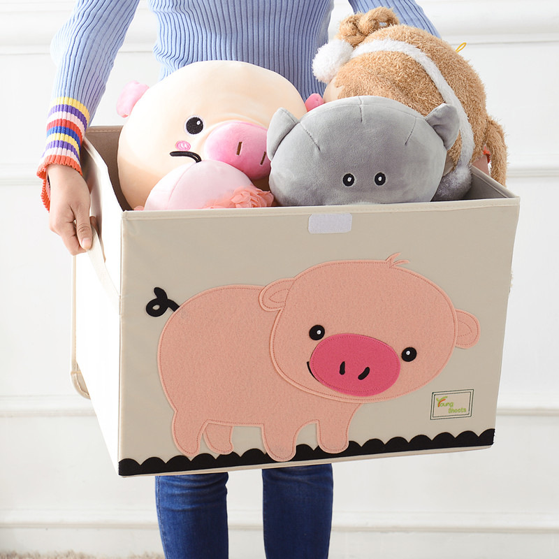 large Cubes Cartoon Animal folding Storage Box kid Toy organizer Clothes Storage Bin for home Decoration organizador Containerlarge Cubes Cartoon Animal folding Storage Box kid Toy organizer Clothes Storage Bin for home Decoration organizador Container