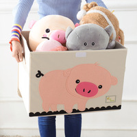 large Cubes Cartoon Animal folding Storage Box kid Toy organizer Clothes Storage Bin for home Decoration organizador Container