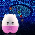 Creative 4 in 1 Lovely Pig Star Projector bluetooth speaker and Desk LED changing Lamp,Cartoon Pig Night light Projector Speaker