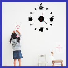 Factory wholesale acrylic diy Creative wall clock Decorative stickers