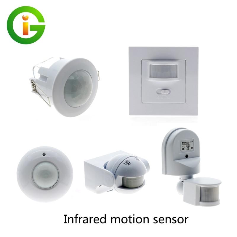 PIR Infrared Sensor Switch Recessed PIR Human Body Induction Switch Light Control Motion Sensor Detector jiawen infrared human body induction switch ceiling pir motion sensor