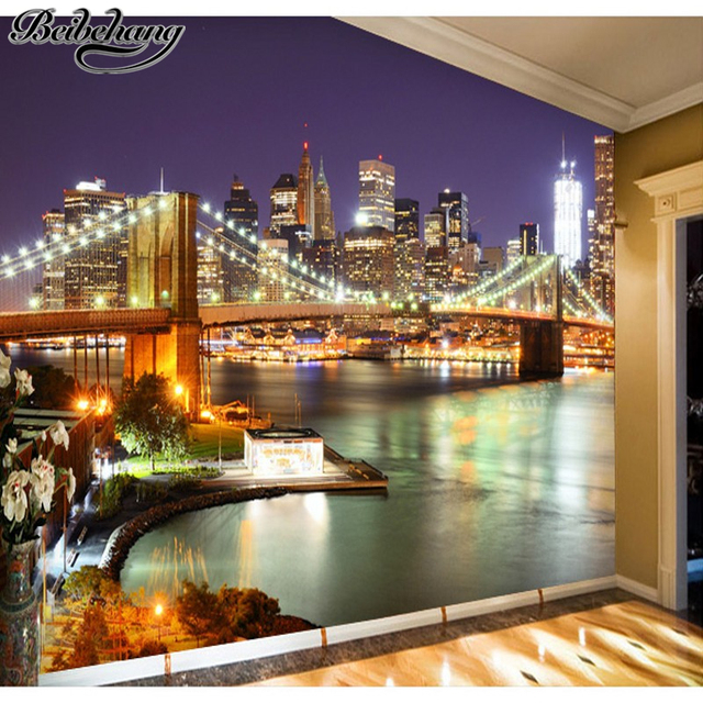 Beibehang new york city night 3d living room bedroom wallpaper beibehang new york city night 3d living room bedroom wallpaper murals entrance hallway corridor backdrop personalized voltagebd Images