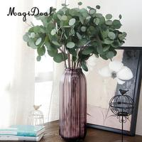 MagiDeal 6x Branch Artificial Eucalyptus Leaves Silk Simulation Leaves Home Decor