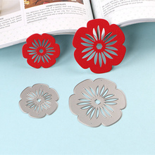 DUOFEN 2018 New Flower metal Cutting Dies Stencils for DIY Scrapbooking stamping Die Cuts Paper Cards craft dies in cutting