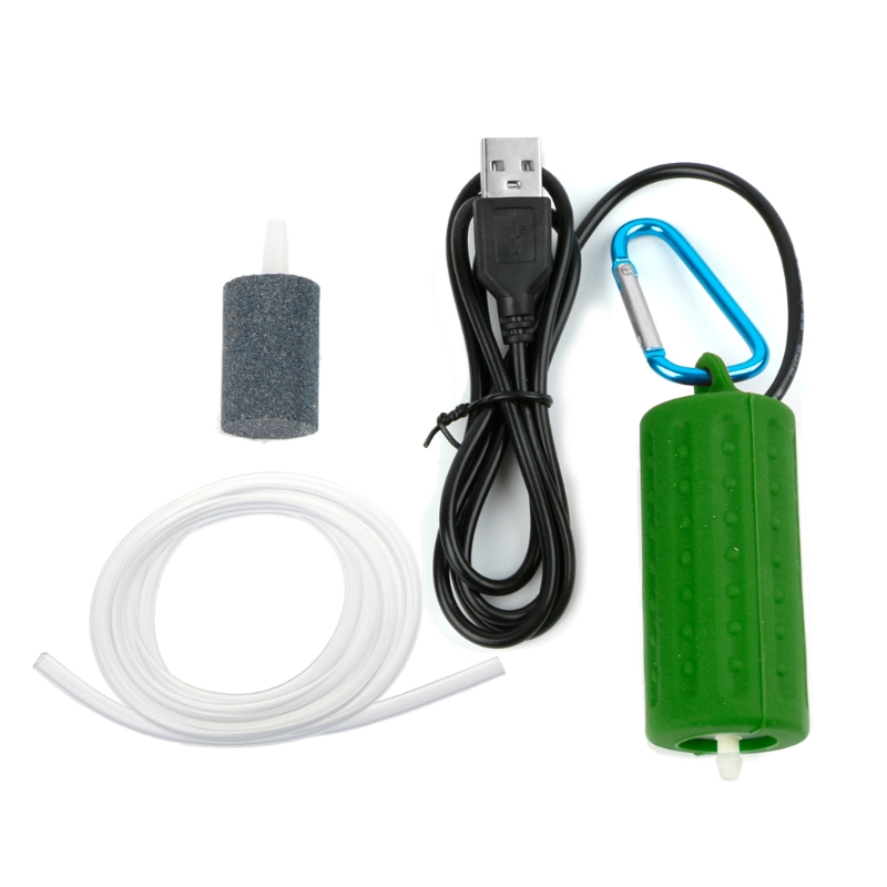 Portable Mini USB Aquarium Fish Tank Oxygen Air Pump Mute Energy Save Compressor