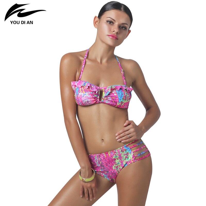 2017 New  Push Up Bikini Swimming Suit Halter Swimwear Women Bikini Set Low Waist Swimsuit Brazilian Biquini Beach Wear электроотвертка bosch ixo v full 06039a8022