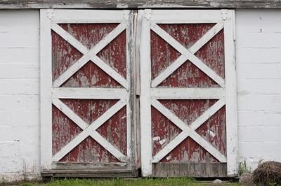 HUAYI Old Barn Door Newborn Photography Backdrop,Customize Printing Art  Fabric Background For Children Studio