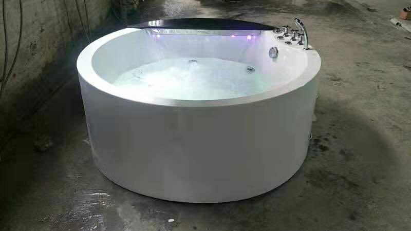 Banheira de hidromassagem acrílica redonda de 1500mm banheira de hidromassagem cachoeira dupla pessoas banheira ns1106-3
