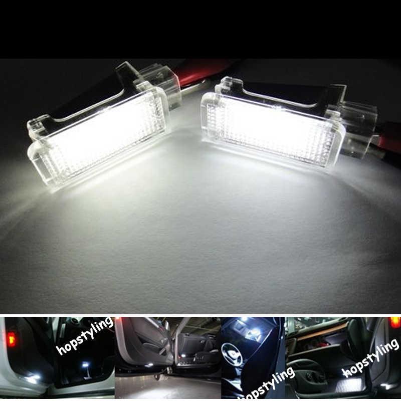2x светодиодный автомобильный светильник для ног Canbus без кода ошибки для Caddy CC EOS ЭОС Гольф плюс Джетта Syncro Passat CC Polo Scirocco стайлинга автомобилей