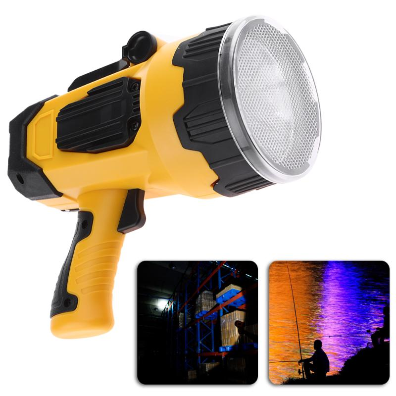 New Powerful LED Spotlight 10W Super Bright Portable Light USB Rechargeable Lantern Outdoor Search Light Spotlight Searchlight