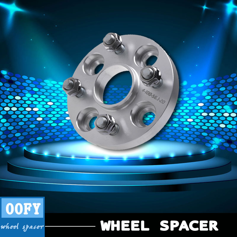 1 pair/ Wheel Spacer  adapter hub  flange 4x100 20mm for Honda  Fit  Freed  Insight  Jazz  Life  N-box N-one high polish wheel spacer with step 4x100 57 1 for jetta