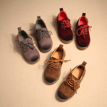 Children Casual Shoes Genuine Leather Children Shoes for Boys sneakers with wheels  British retro shoes  4 to 6 year  kids shoes