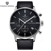 PAGANI Design Top Brand Luxury Simple Chronograph Stainless Steel Mens Watch Military Quartz Wrist Watches Dress Clock Male