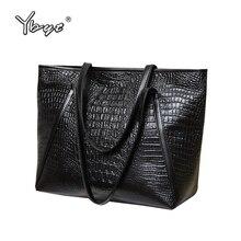 YBYT brand 2016 new fashion casual glossy alligator totes large capacity ladies simple shopping handbag PU leather shoulder bags недорго, оригинальная цена