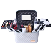 Women Folding Multilayer Professional Large Capacity Makeup Box Top Quality Cosmetic Organizer Portable Travel Storage Case