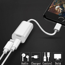 High Sound Quality Audio Headphone Charging Dual Lighting Adapter Cable Audio Charge Sync Compatible for iPhone