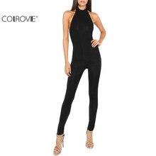 COLROVIE Round Neck Backless Bodycon Jumpsuit