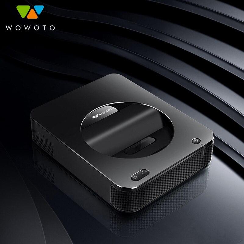 WOWOTO Projektor Elektro fokus 4K Auflösung Große speicher RAM 4G projektor Fenster system Drahtlose netzwerk für Home Cinema s6W