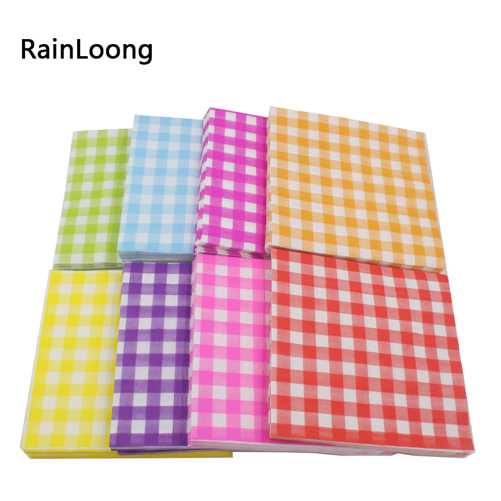 Virgin Wood Pulp Material Lattice Paper Napkin Para Festas & Party Tissue Napkin Cartoon ...