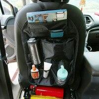 Top 1pcs Black Oxford Car Seat Pocket Multifunctional Bag Seat Back Storage Box Storage Bags New