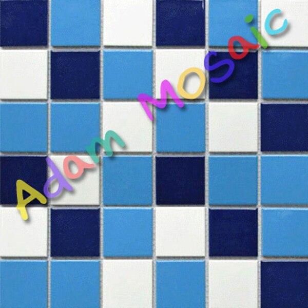 swimming pool tile blue white mosaic tile bathroom flooring ...