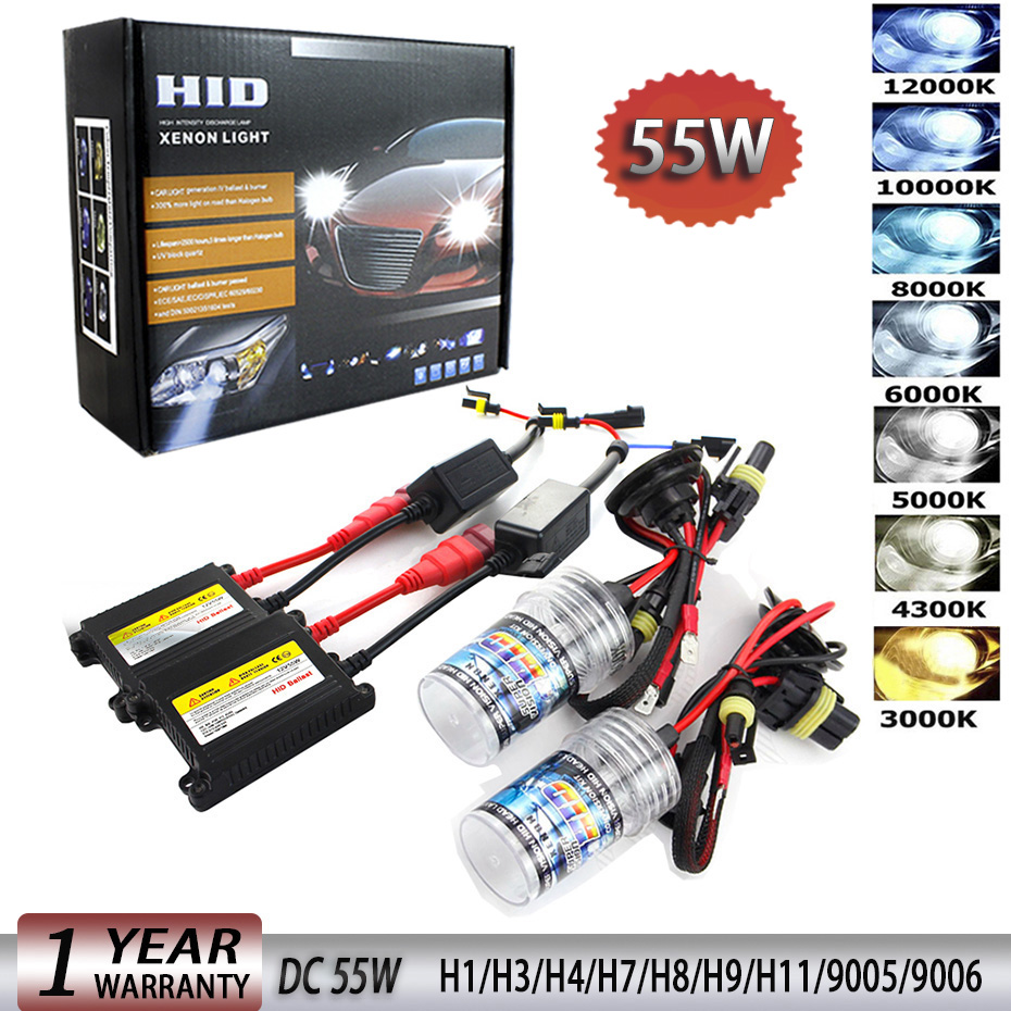 55W HID Xenon Kit H7 H4 H1 H8 H9 H11 H13 xenon hid ballast ... H K Hid Wiring Harness on